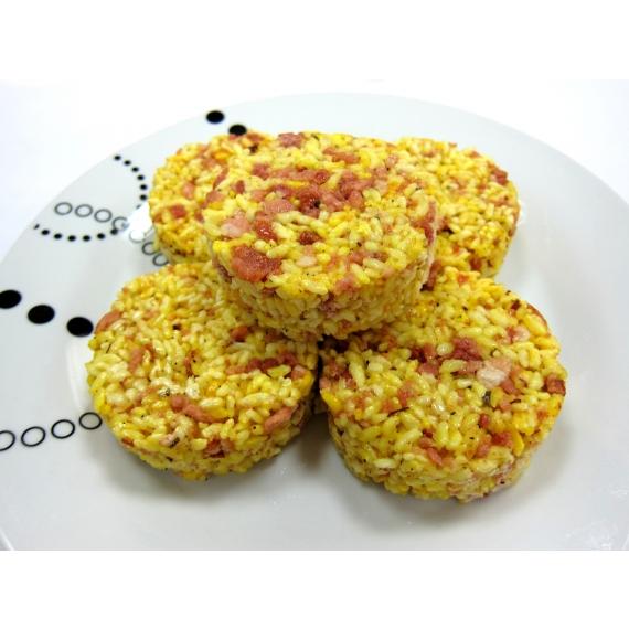 使用在地100%台灣米,搭配咖哩培根,讓您自由變化想要的內餡