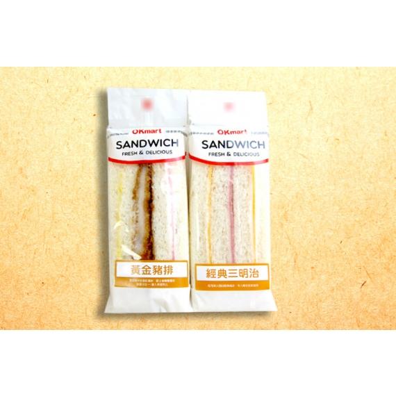 新鮮吐司搭配簡單火腿片及起司絕對經典